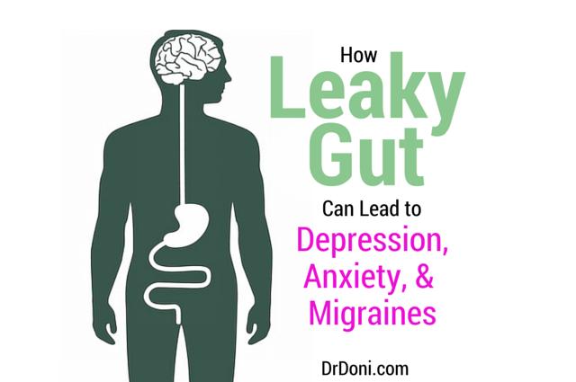 Leaky Gut, Gut-Brain Axis, vagal nerve, depression, anxiety, migraine, migraines, headache, headaches, intestinal permeability, digestive system, nervous system, inflammation, Brain-Gut Axis, hormones, cytokines, neurotransmitters