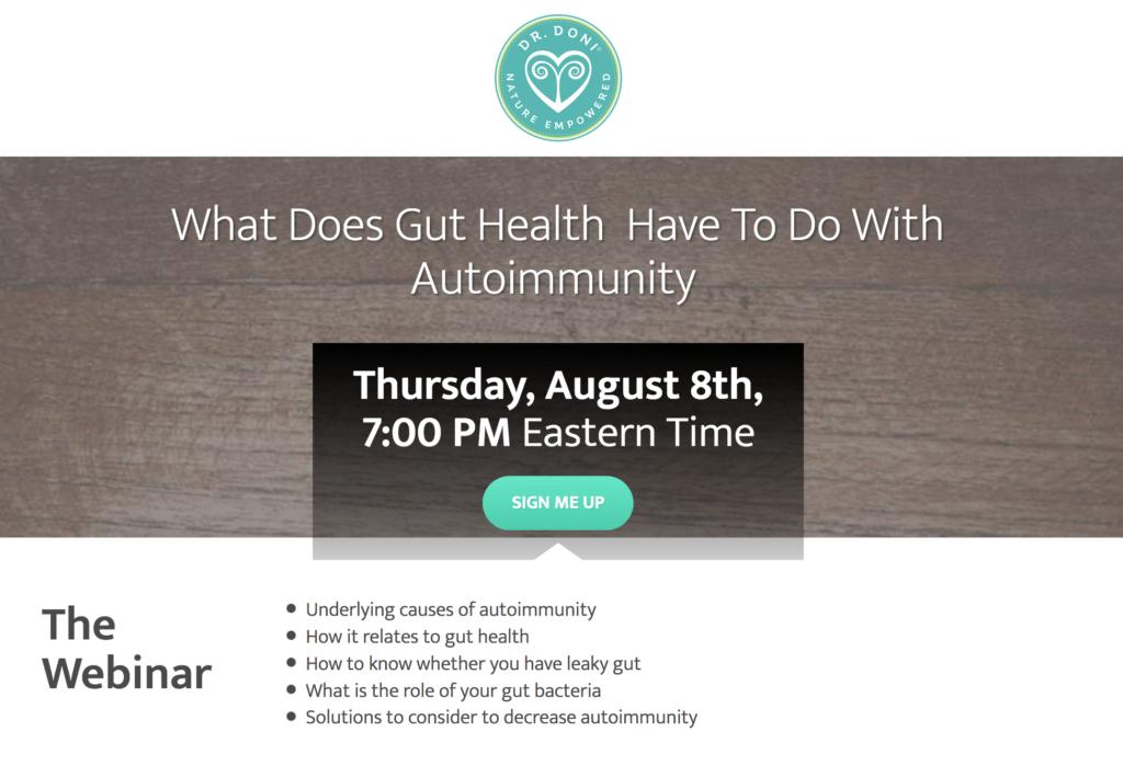 A webinar on autoimmunity hosted by Dr. Doni Wilson